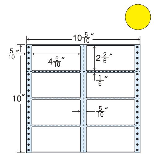 東洋印刷 タックシール nana カラータイプ (連続ラベル) イエロー 500折 M10CY