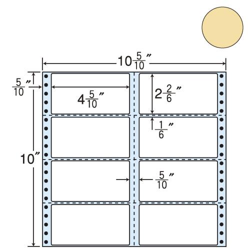 東洋印刷 タックシール nana カラータイプ (連続ラベル) ベージュ 500折 M10CH