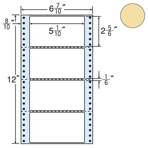 東洋印刷 タックシール nana カラータイプ (連続ラベル) ベージュ 1000折 MM6AH