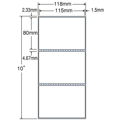 東洋印刷 PDラベルシール nana 再剥離 Cタイプヨコ TMR-4C