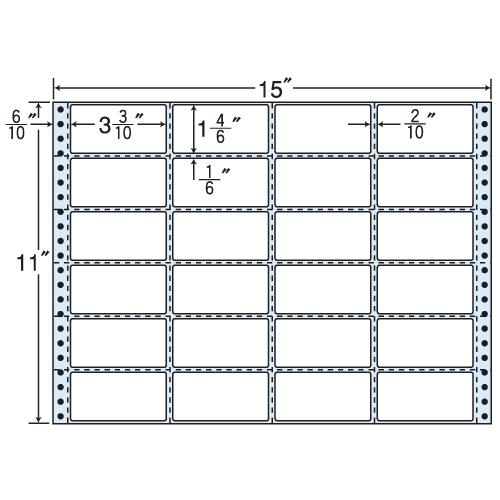 東洋印刷 タックシール nana レギュラータイプ (連続ラベル) 500折 MH15B