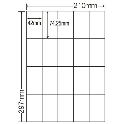 東洋印刷 マルチタイプラベル 普通紙タイプ A4 400シート CL-22