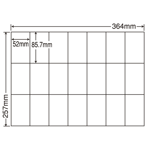 東洋印刷 ラベルシール nana 汎用タイプ B4 100シート×5 E21Q