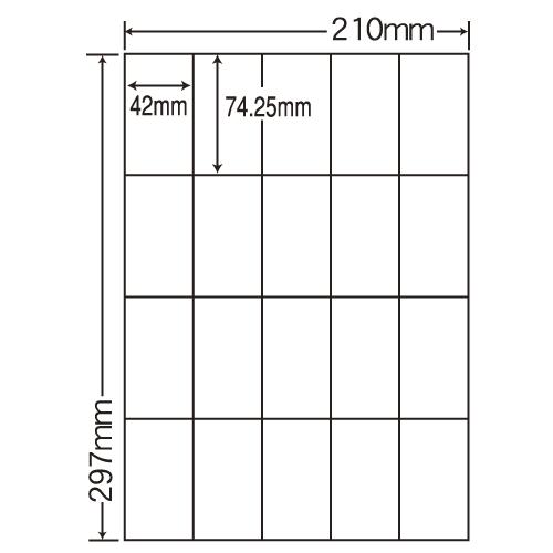 東洋印刷 ラベルシール nana カラーインクジェット用光沢 A4 80シート SCJ-22