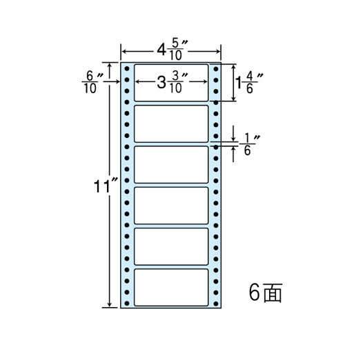 東洋印刷 ラベルシール nana レギュラータイプ 1000折 100折×10 MM4KS