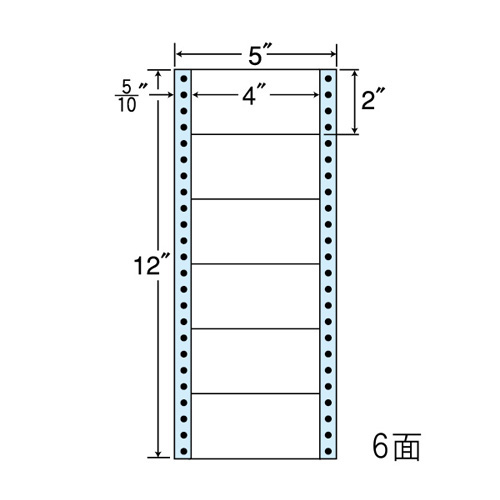 東洋印刷 ラベルシール nana レギュラータイプ 500折×2 MM5A