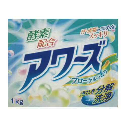 洗濯洗剤 粉末 アワーズ 酵素配合 フローラル 1kg
