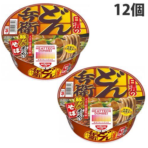 【賞味期限:21.07.18】日清食品 ヒートテックどん兵衛 豚だしあんかけそば 90g×12個