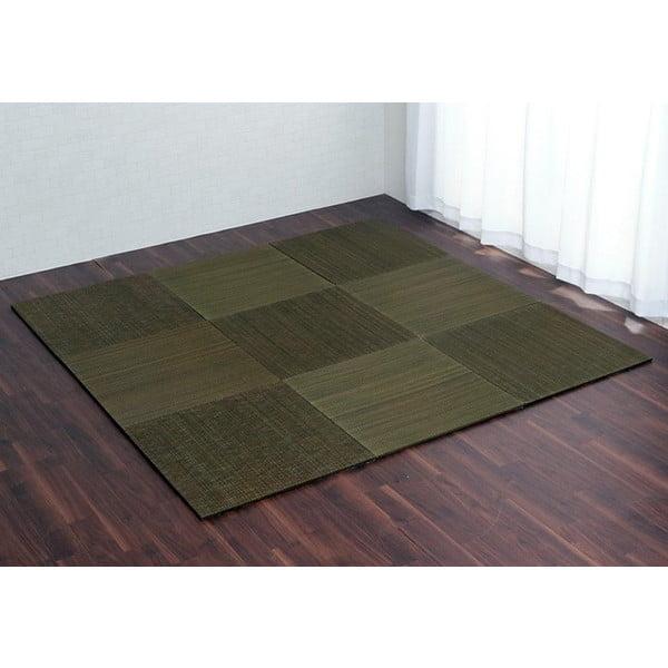 イケヒコ ユニット畳 無地 70×70cm 9枚組 グリーン