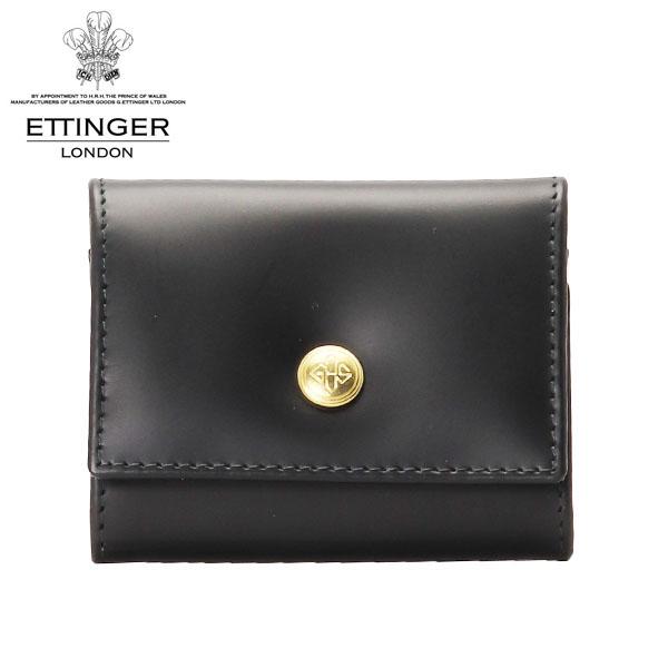 ETTINGER ブライドルレザー コインケース ブラック/イエロー BH145JR