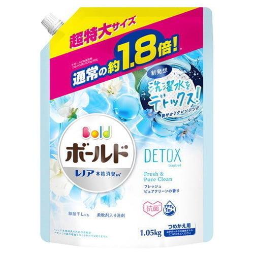 P&G 洗濯洗剤 ボールド フレッシュピュアクリーンの香り つめかえ用 超特大 1.05kg