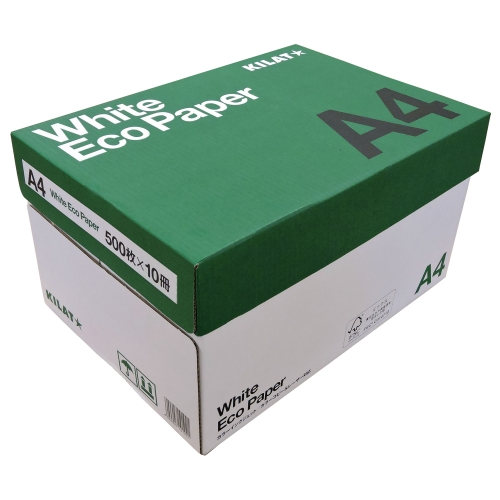 【送料無料】コピー用紙 ホワイトエコペーパー 高白色 A4 5000枚【他商品と同時購入不可】