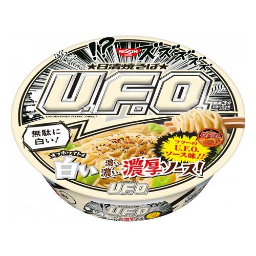 【賞味期限:21.07.29】日清食品 焼きそばU.F.O. 白い濃い濃い濃厚ソース 118g×12個