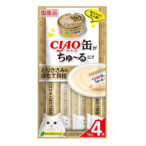 いなば CIAO 缶ちゅ~る とりささみ&ほたて貝柱 (14g×4本入)×48個 SC-356