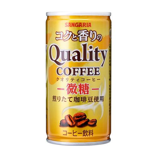 サンガリア コクと香りのクオリティコーヒー 微糖185g×30缶