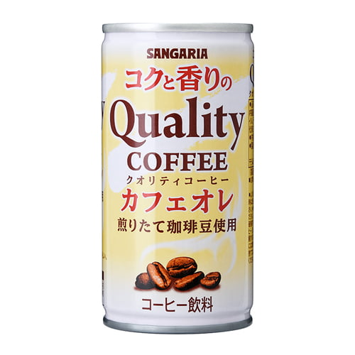 サンガリア コクと香りのクオリティコーヒー カフェオレ 185g×30缶