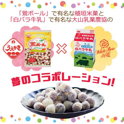 植垣米菓 鶯ボール ミルク味 72g