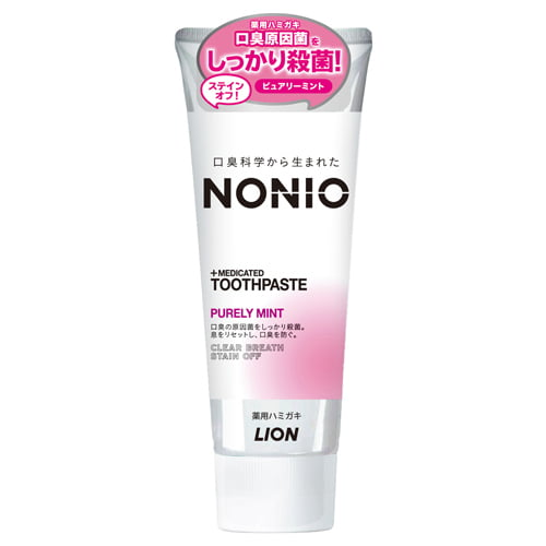 ライオン NONIO マウスウォッシュ ライトハーブミント 600ml + 歯磨き粉 ピュアリーミント 130g【医薬部外品】