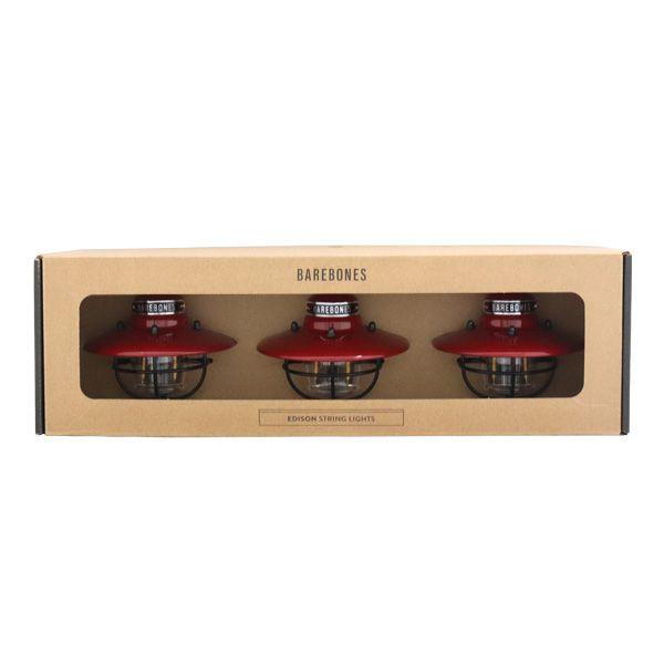 Barebones Living ベアボーンズ リビング Edison String Lights エジソンストリングライト LED Red レッド
