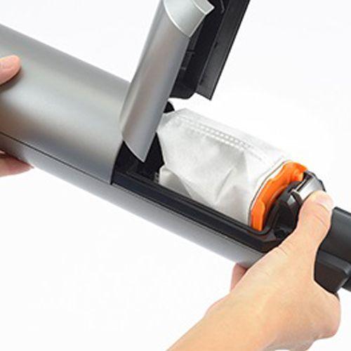 ツインバード 掃除機 コードレススティック型クリーナー メタリックグレー TC-E263GY