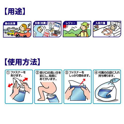 ケンユー 携帯トイレ プルプル 3個入 3AP-100