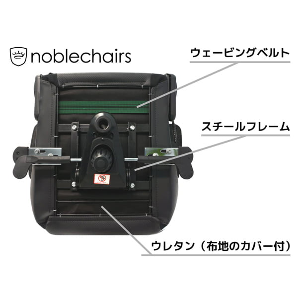 noblechairs ゲーミングチェア HERO Black Edition NBL-HRO-PU-BED-SGL