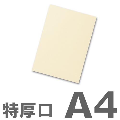 大王製紙 カラーコピー用紙 再生色上質紙(国産紙) 特厚口 A4 クリーム(イエロー) 500枚: