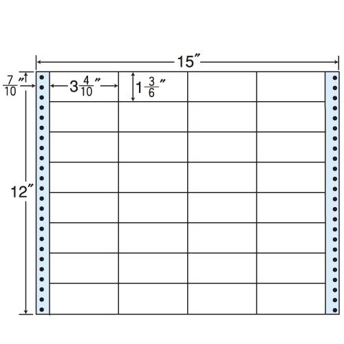 東洋印刷 タックシール nana レギュラータイプ (連続ラベル) 500折 MX15C: