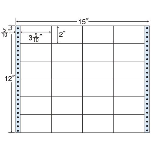 東洋印刷 タックシール nana レギュラータイプ (連続ラベル) 500折 M15W: