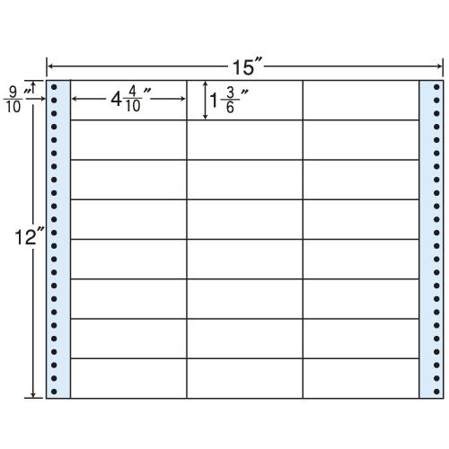東洋印刷 タックシール nana レギュラータイプ (連続ラベル) 500折 MX15T: