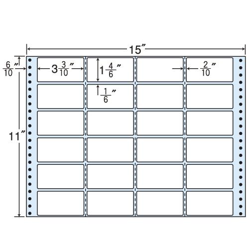 東洋印刷 タックシール nana レギュラータイプ (連続ラベル) 500折 MH15X: