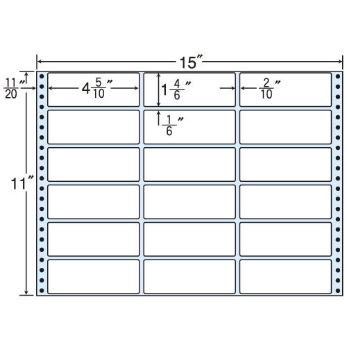 東洋印刷 タックシール nana レギュラータイプ (連続ラベル) 500折 M15B:
