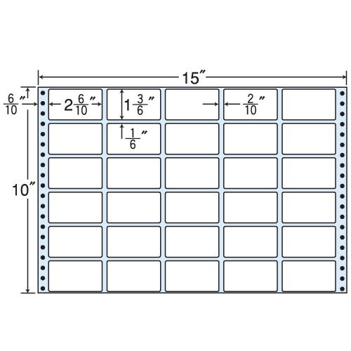 東洋印刷 タックシール nana レギュラータイプ (連続ラベル) 500折 M15R:
