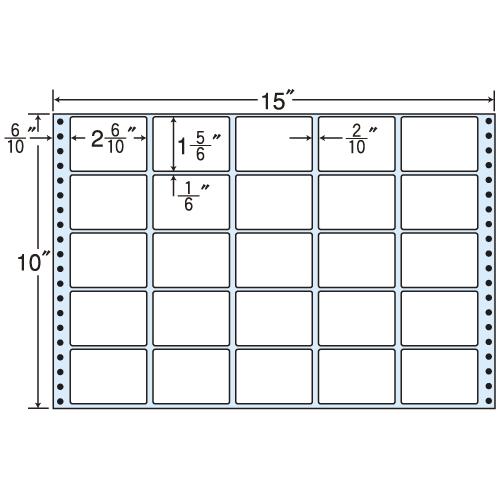 東洋印刷 タックシール nana レギュラータイプ (連続ラベル) 500折 MT15S: