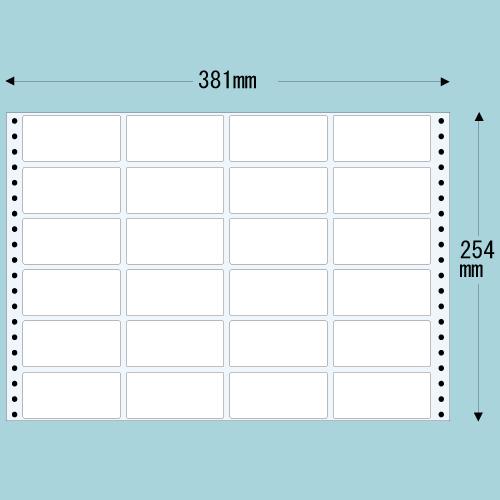 東洋印刷 タックシール nana レギュラータイプ (連続ラベル) 500折 M15F:
