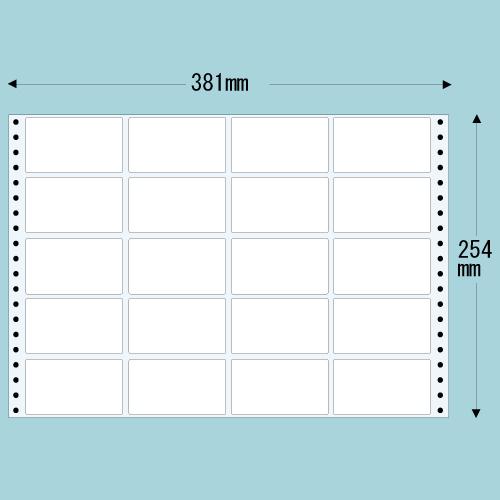 東洋印刷 タックシール nana レギュラータイプ (連続ラベル) 500折 M15E: