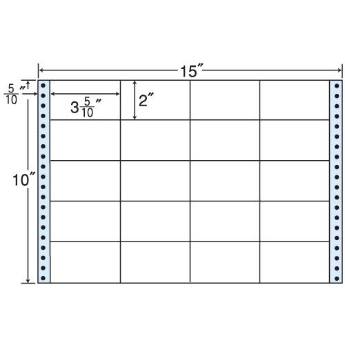 東洋印刷 タックシール nana レギュラータイプ (連続ラベル) 500折 M15U: