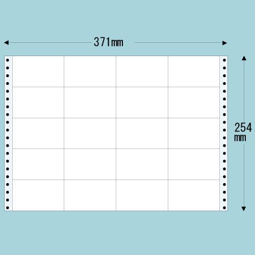 東洋印刷 タックシール nana レギュラータイプ (連続ラベル) 500折 M14: