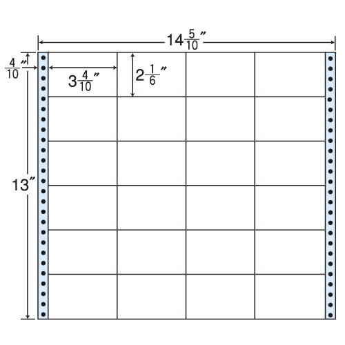 東洋印刷 タックシール nana レギュラータイプ (連続ラベル) 500折 M14Y: