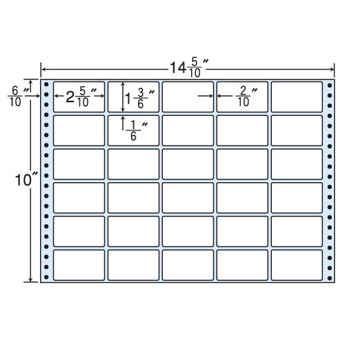 東洋印刷 タックシール nana レギュラータイプ (連続ラベル) 500折 MX14V: