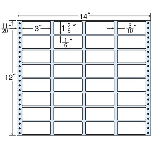 東洋印刷 タックシール nana レギュラータイプ (連続ラベル) 500折 MT14G: