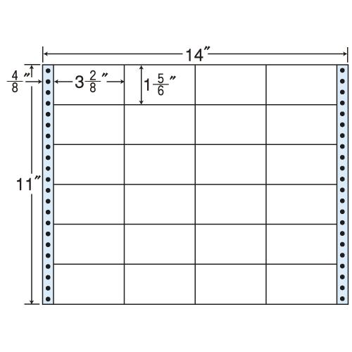 東洋印刷 タックシール nana レギュラータイプ (連続ラベル) 500折 MX14B: