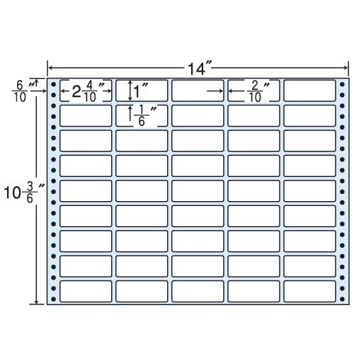 東洋印刷 タックシール nana レギュラータイプ (連続ラベル) 500折 MX14R: