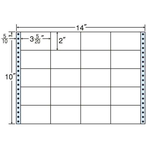 東洋印刷 タックシール nana レギュラータイプ (連続ラベル) 500折 MT14S:
