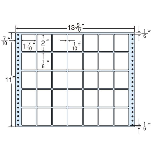 東洋印刷 タックシール nana レギュラータイプ (連続ラベル) 500折 M13M:
