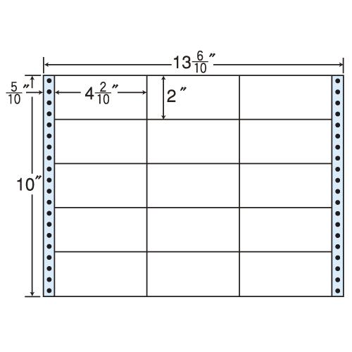 東洋印刷 タックシール nana レギュラータイプ (連続ラベル) 500折 M13N:
