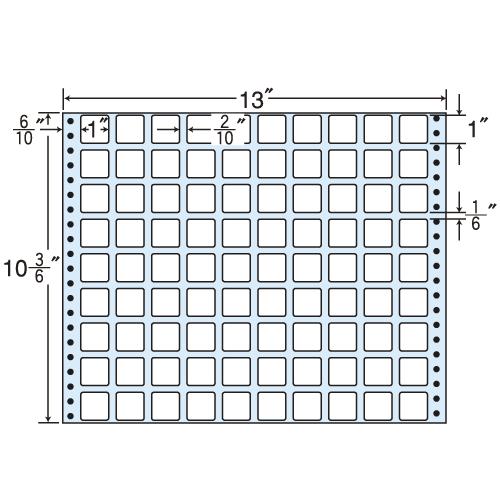 東洋印刷 タックシール nana レギュラータイプ (連続ラベル) 500折 MT13R: