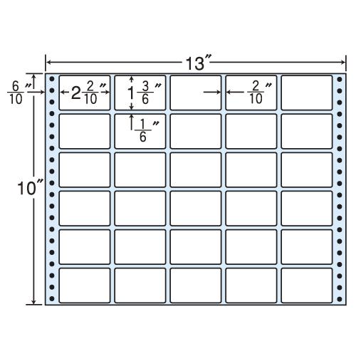 東洋印刷 タックシール nana レギュラータイプ (連続ラベル) 500折 MT13N: