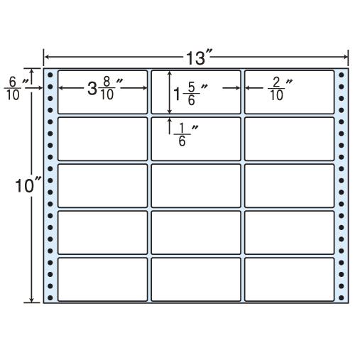 東洋印刷 タックシール nana レギュラータイプ (連続ラベル) 500折 M13J: