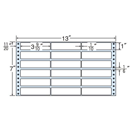 東洋印刷 タックシール nana レギュラータイプ (連続ラベル) 500折×2 MX13V: